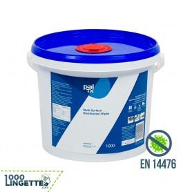 Seau de 1000 lingettes désinfectantes, virucides, bactéricides. Anti Covid. En vente sur 1000lingettes.com