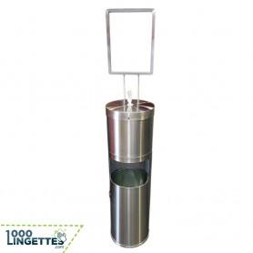 Distributeur de lingettes désinfectantes au sol 1000lingettes.com
