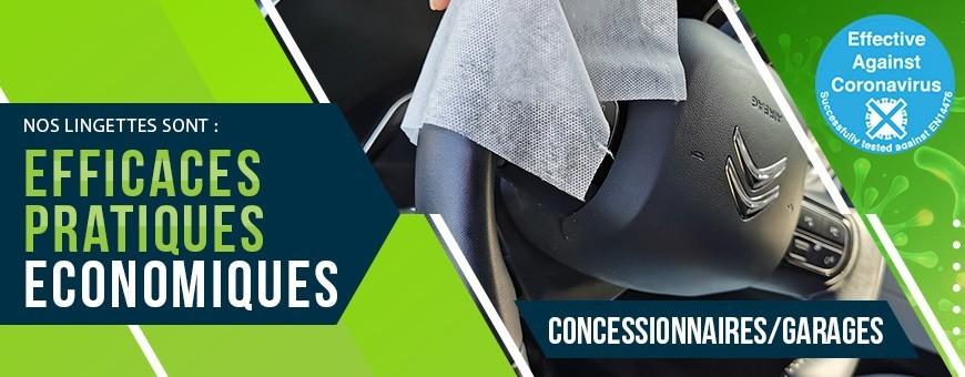 Hygiène et désinfection des garages et concessions automobile.